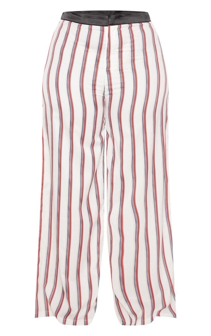Plus Multi Stripe Wide Leg Pants 3
