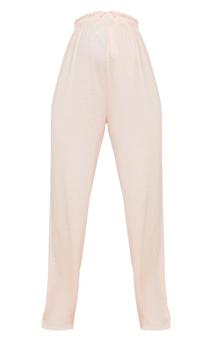 Maternity Pink Crinkle Crepe Tie Detail Wide Leg Lounge Pants 5