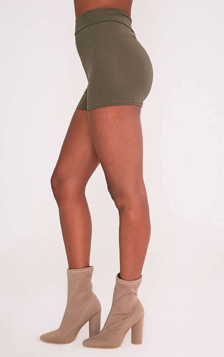Basic Khaki High Waisted Shorts 4