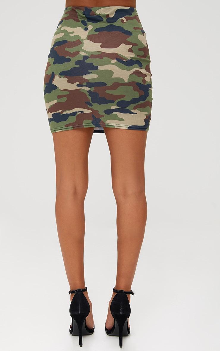 Petite Camo Lace Up Skirt 4