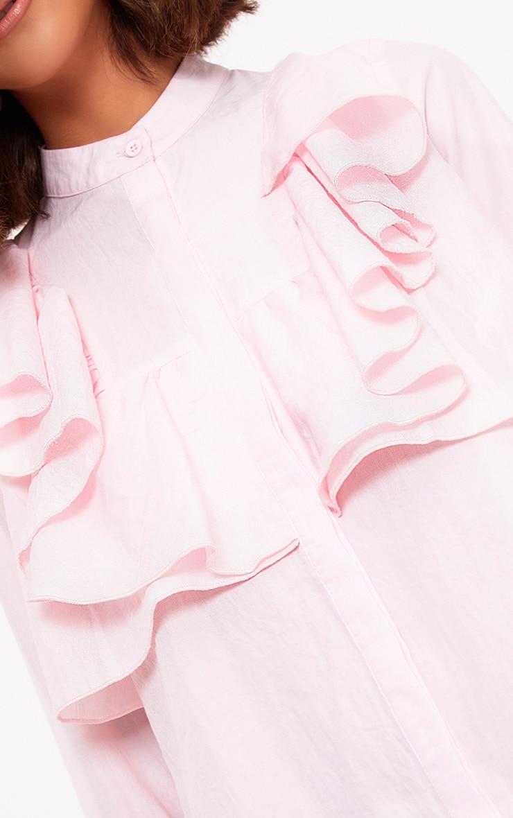Nude Frill Front Shirt Dress 5