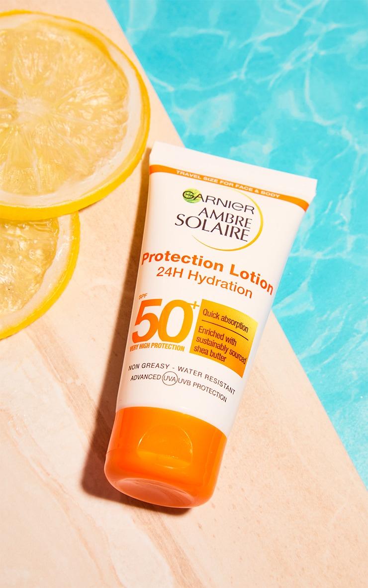 Garnier Ambre Solaire Mini Ultra-Hydrating Shea Butter Sun Protection Cream SPF50+ 50ml Travel 1