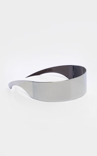 Silver Revo Shield Visor Sunglasses