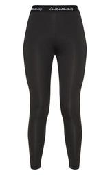 823dc59082 PRETTYLITTLETHING Black Elasticated Band Leggings image 4
