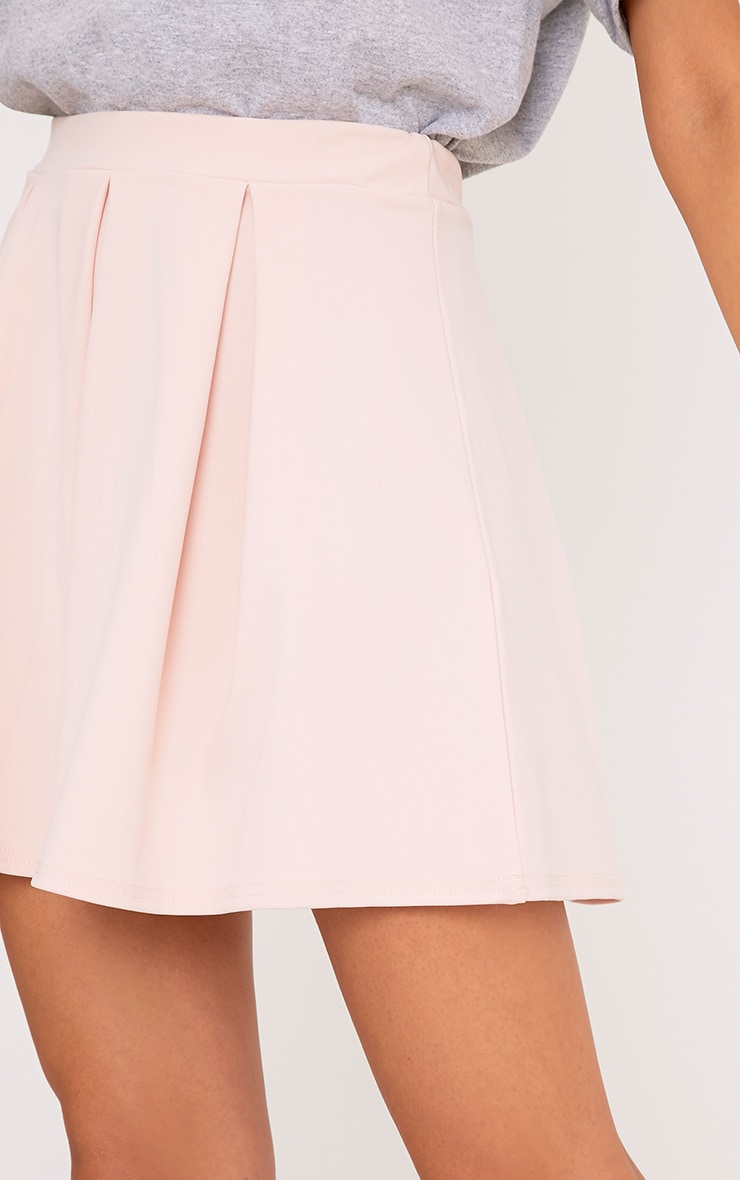 Rosabela Blush Box Pleat Skater Mini Skirt  6