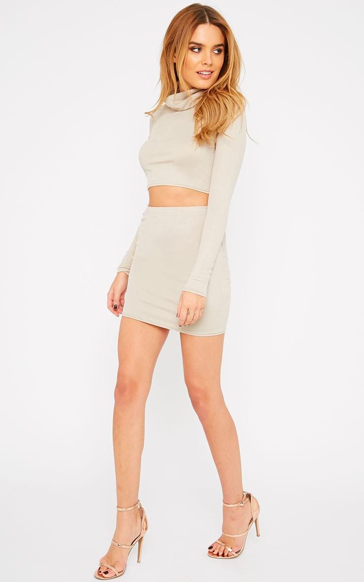 Emilia Stone Crepe Mini Skirt 1