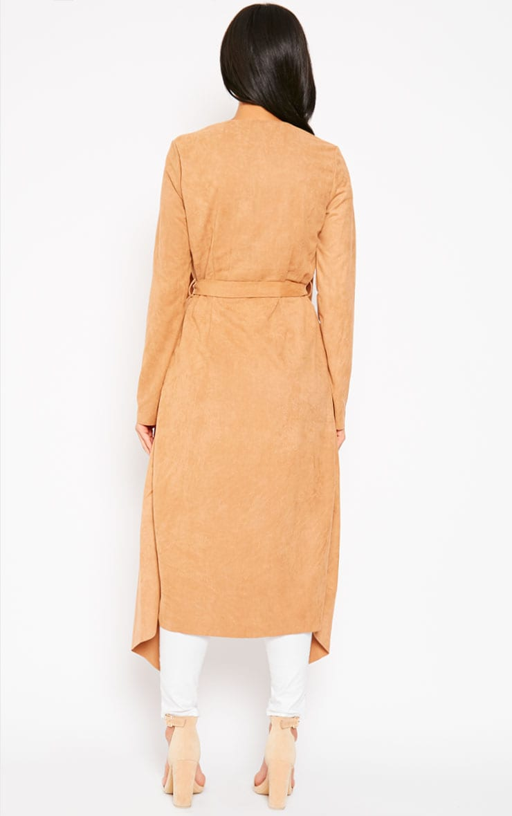 Liberty Camel Suede Waterfall Coat 2