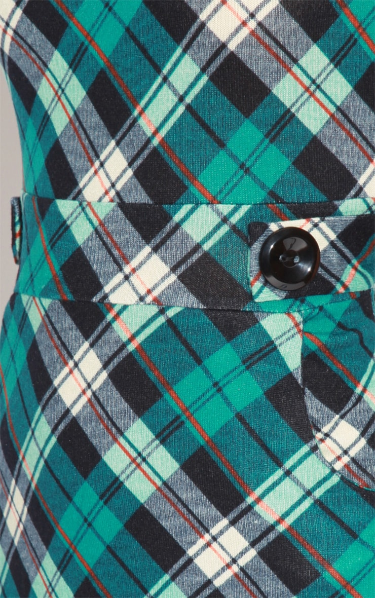 Addie Blue Tartan Dress  6