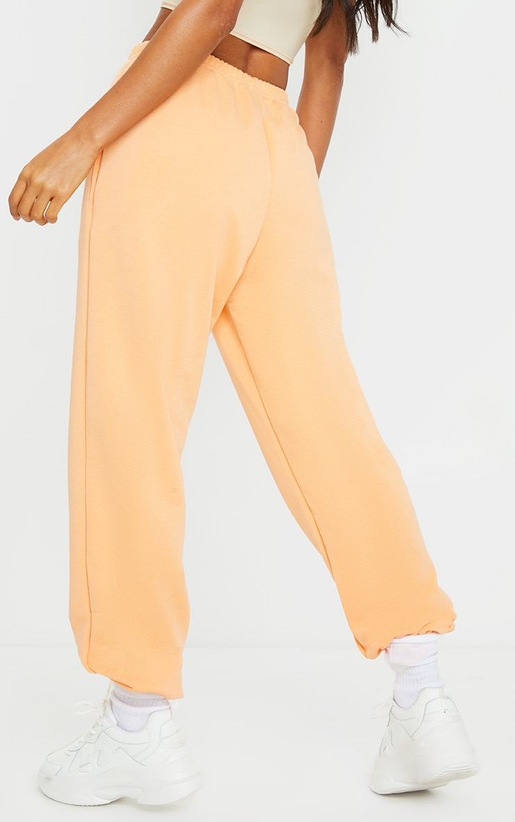 Peach Basic Cuffed Hem Joggers 3