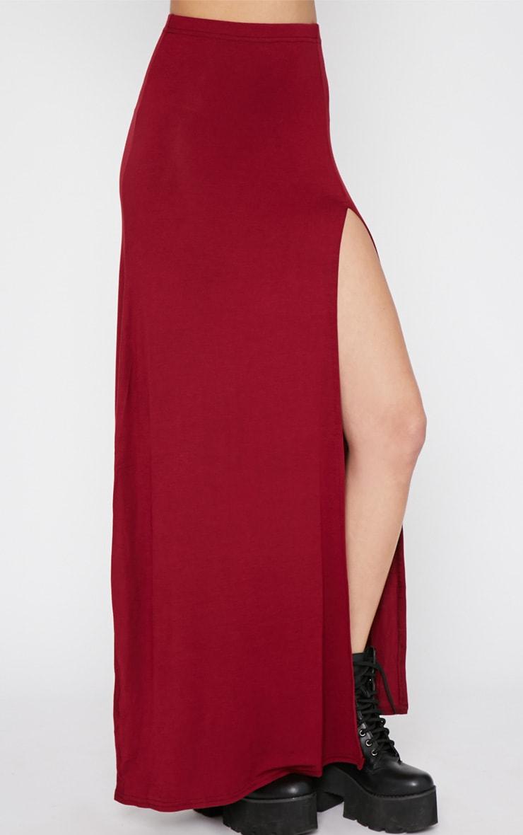 Albany Maroon Maxi Skirt  4