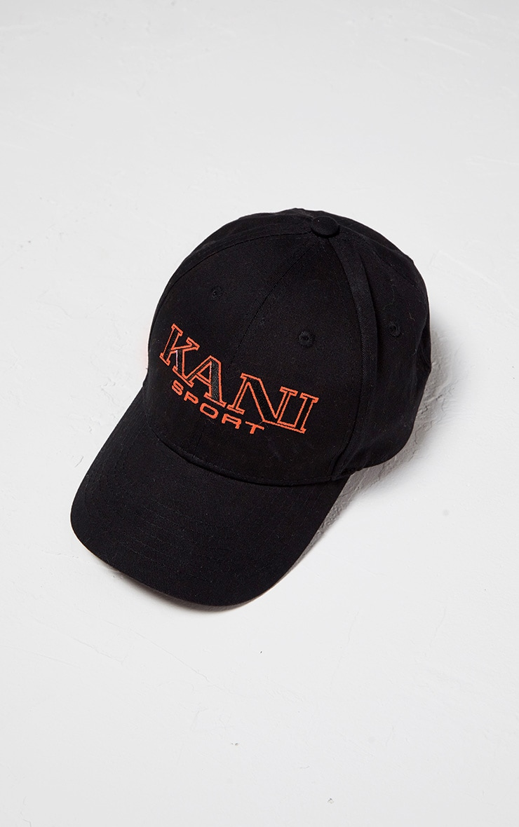 KARL KANI Black Embroidered Baseball Cap 4
