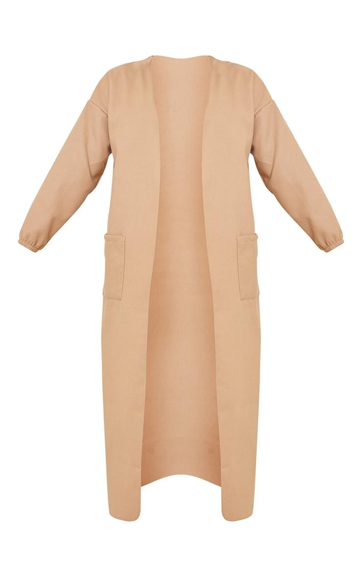 Tall Stone Balloon Sleeve Maxi Pocket Front Coat 5