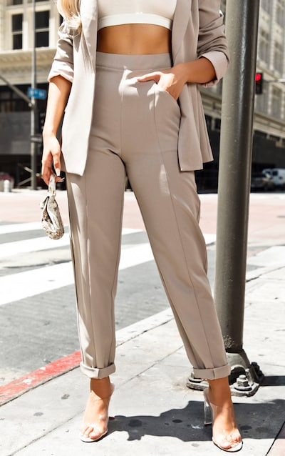 Grey Pebble Tapered Trouser