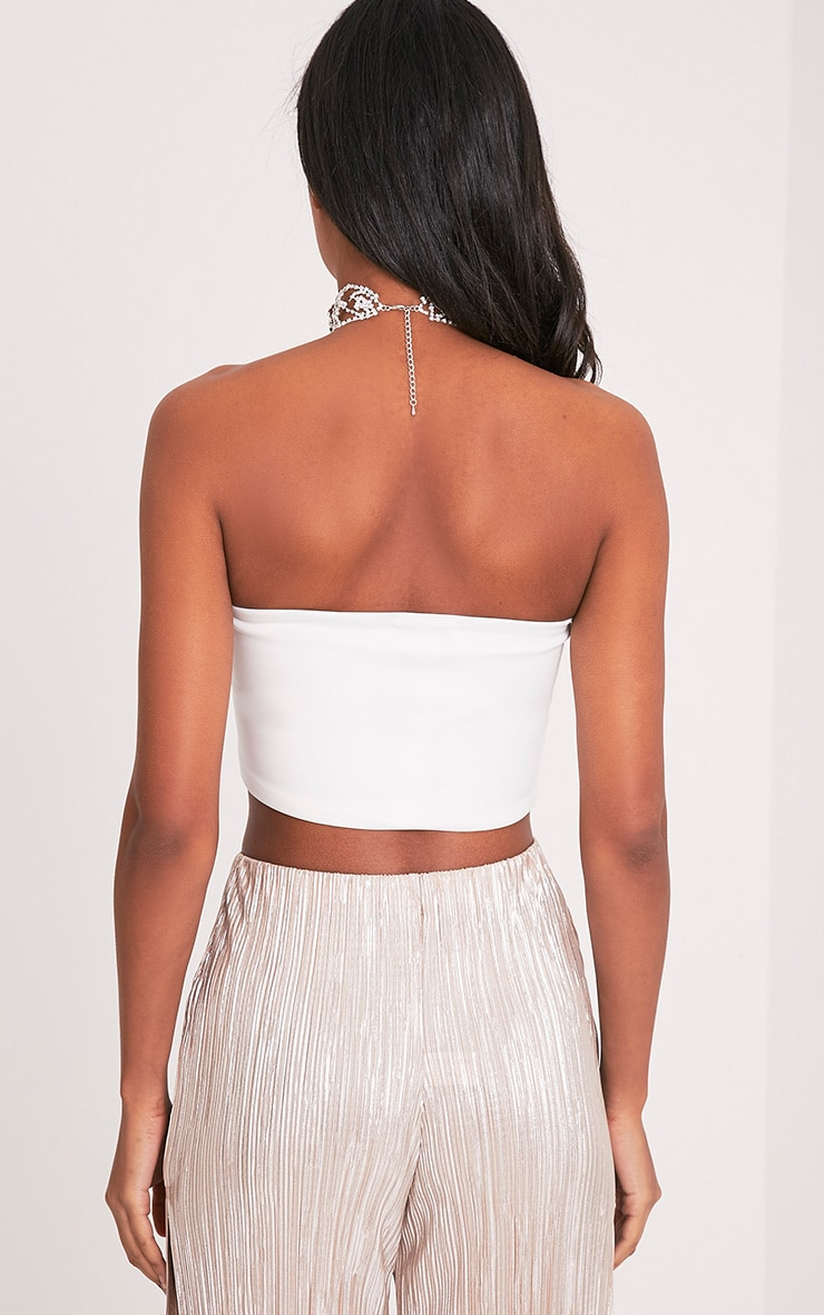 Kaja Cream Scuba Bandeau Crop Top 2