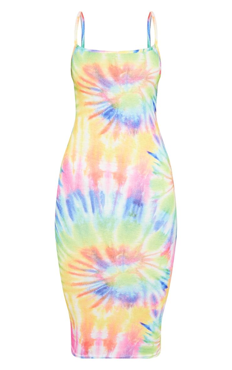 Multi Tie Dye Strappy Midi Dress 3