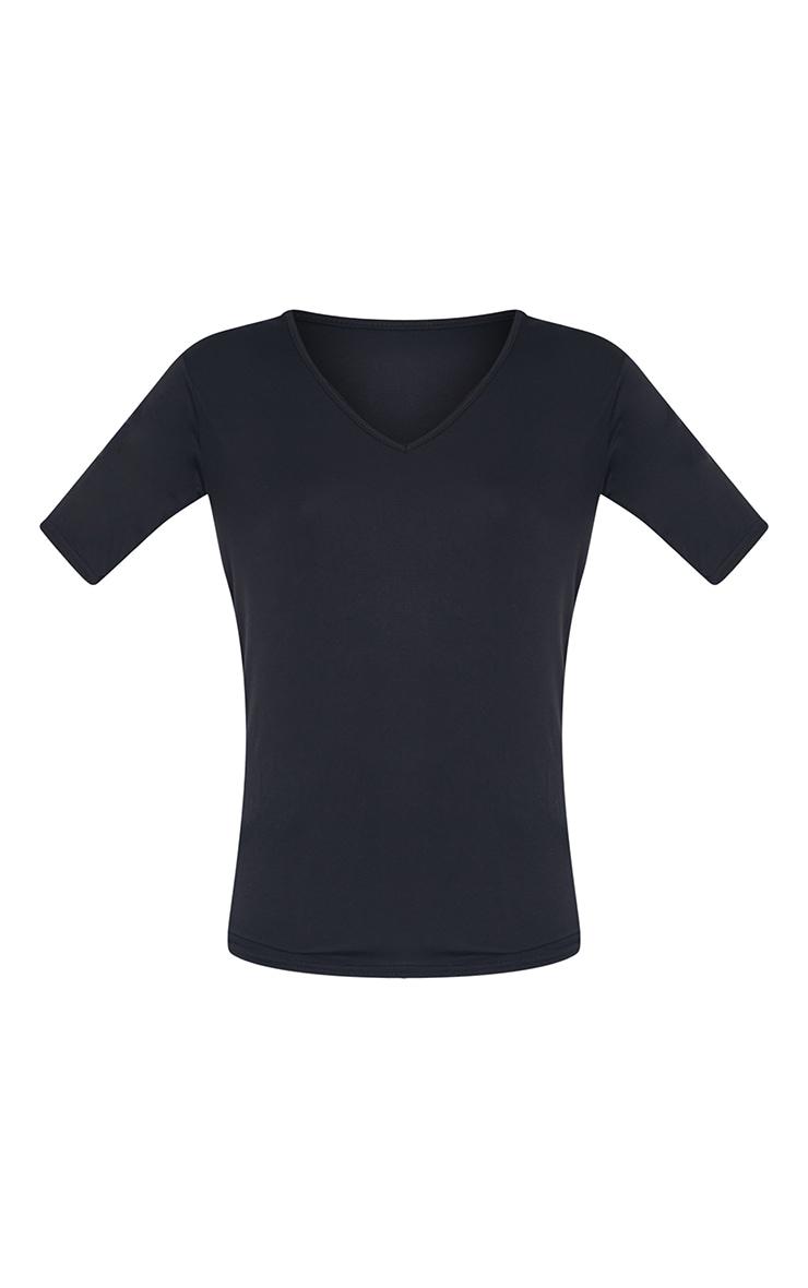 Tall Black Basic V Neck T shirt 5