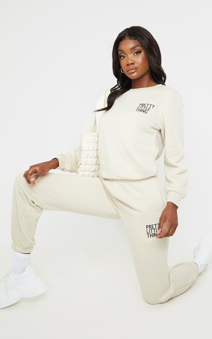 PRETTYLITTLETHING Tall Washed Stone Oversized Sweater 3