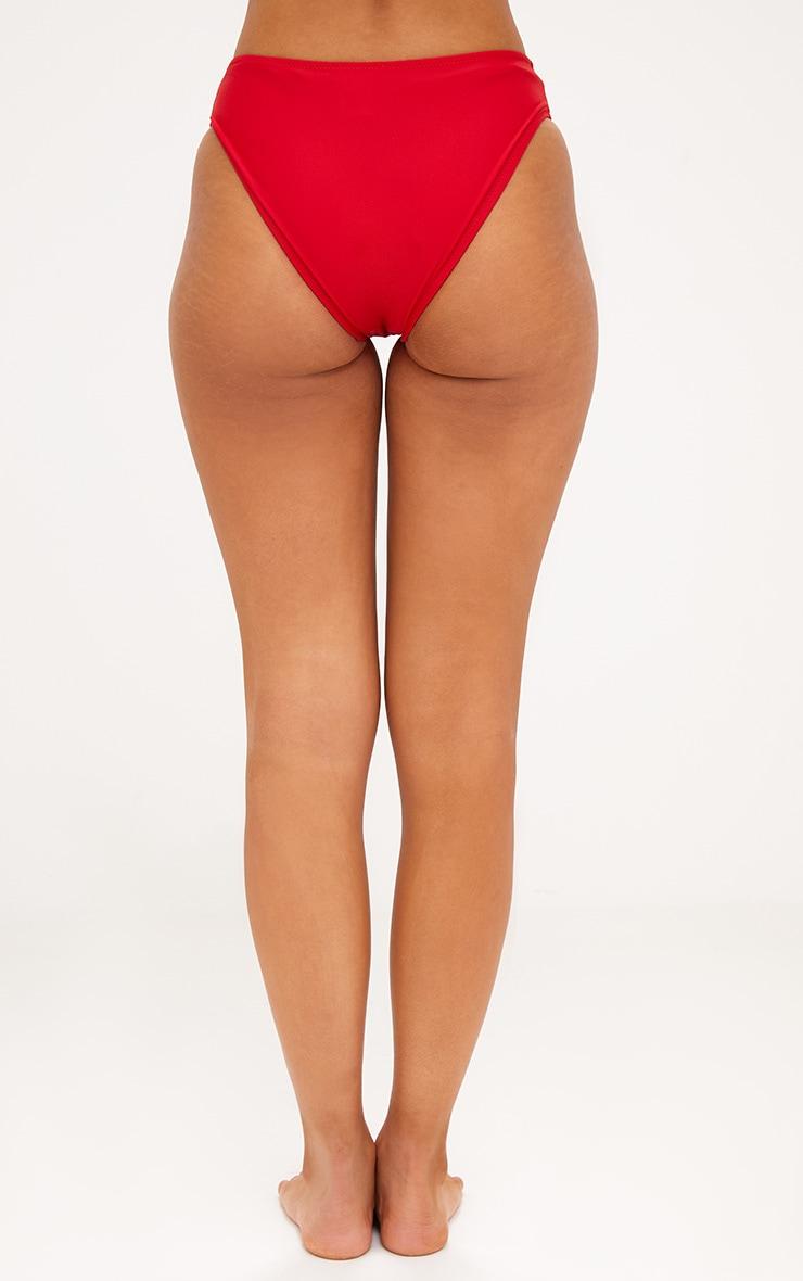 Red V Front Bikini Bottoms 4