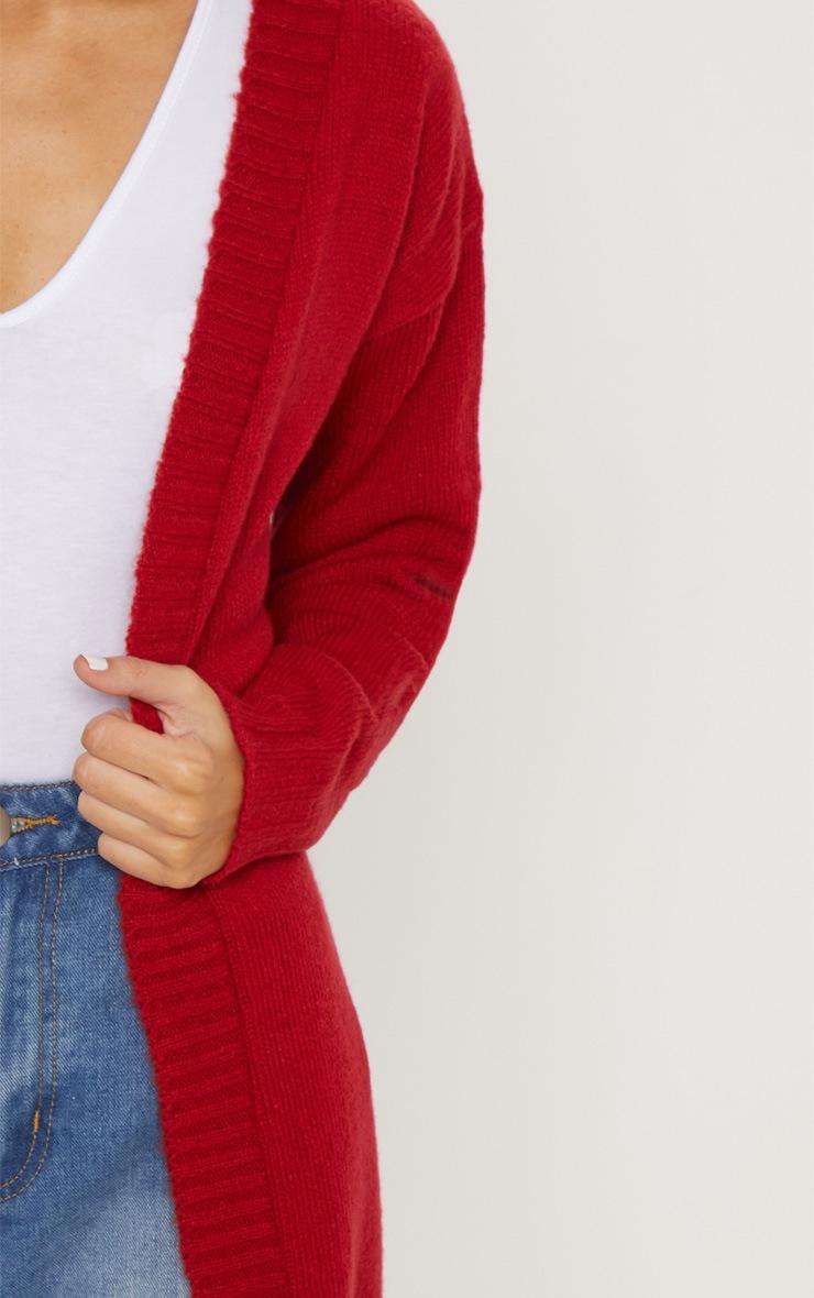Red Knitted Laguna Yarn Cardigan 5