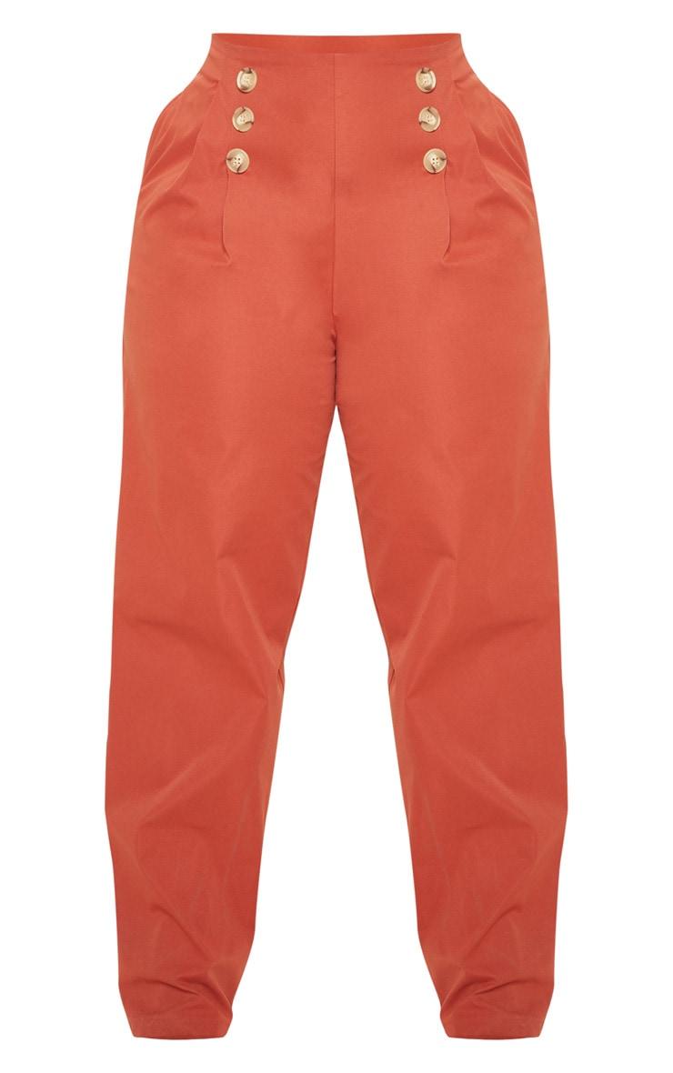 PLT Plus - Pantalon ample rouille à détail boutons et pli 3