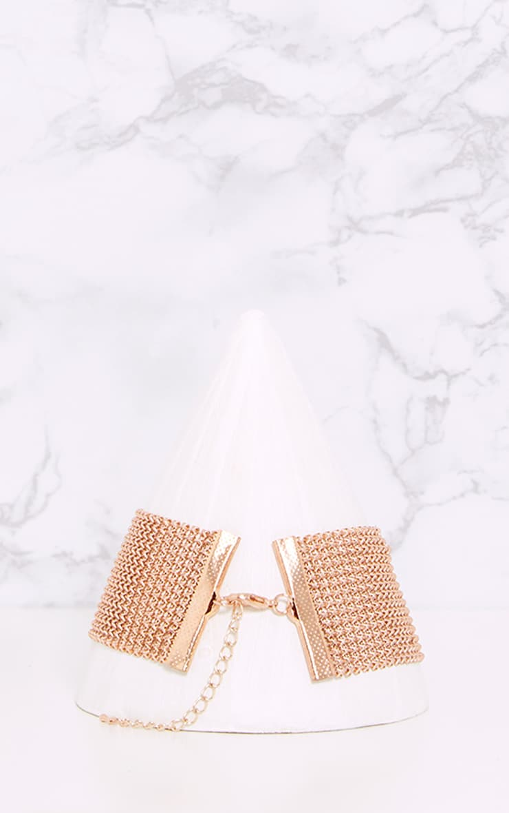 Judey Rose Gold Chainmail Choker 3