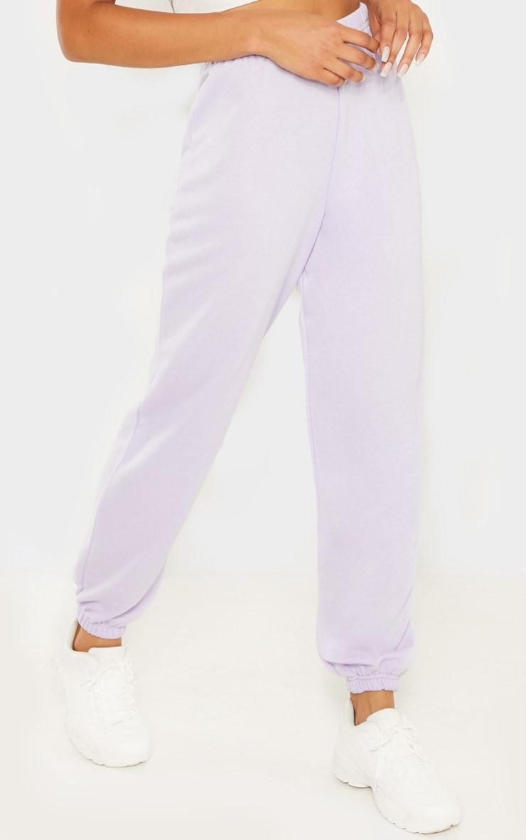 Lilac Basic Cuffed Hem Jogger 2