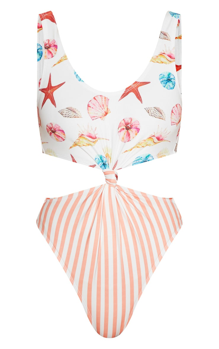 Shells & Stripes Knot Front Swimsuit 3