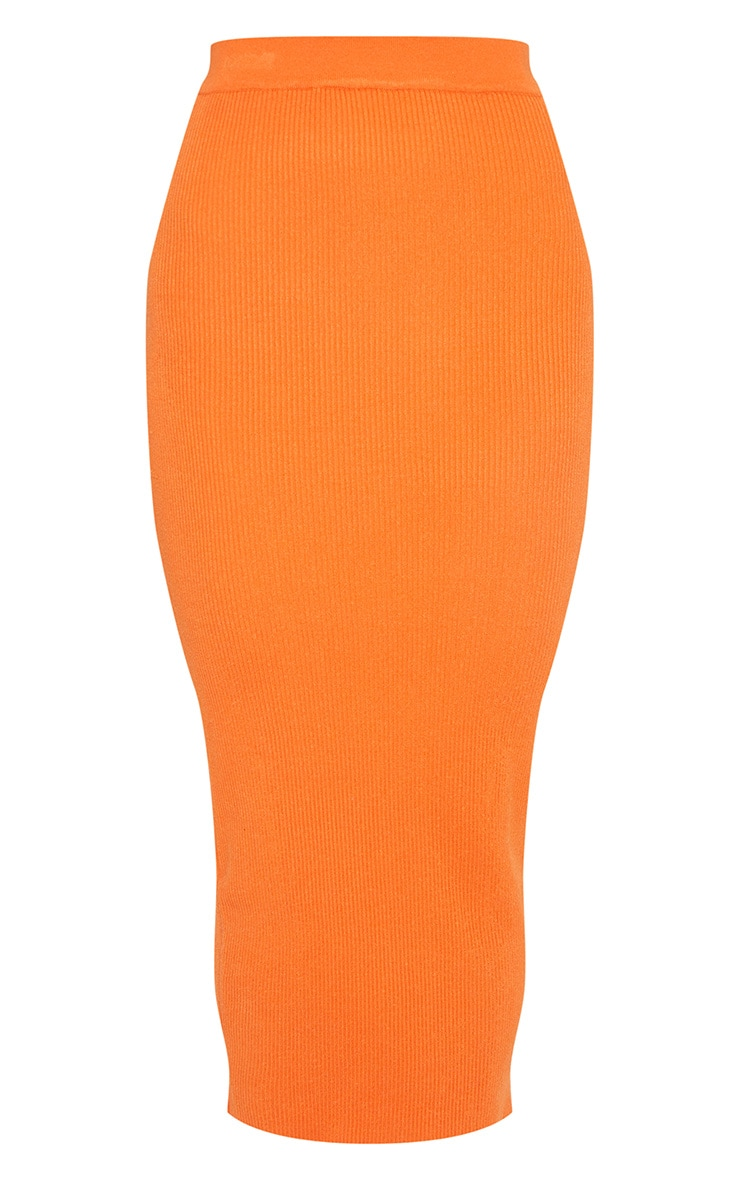 Orange Knitted Ribbed Co Ord 3