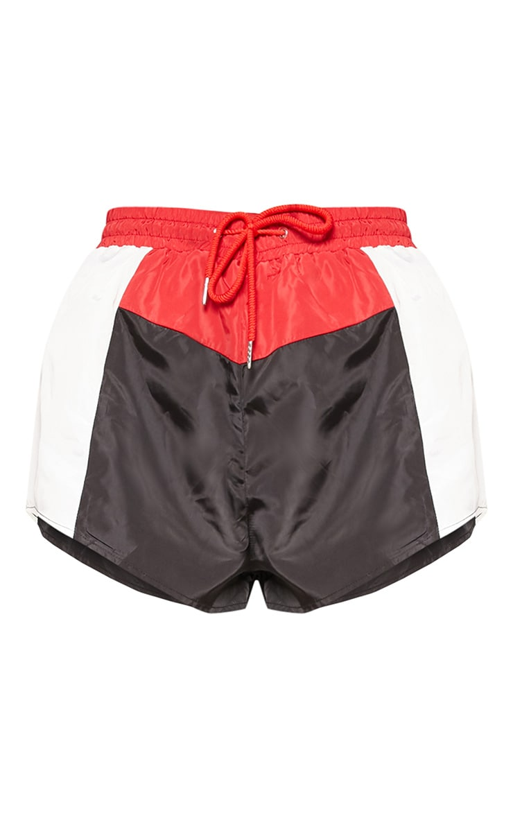 Black Colourblock Shell Suit Short 3