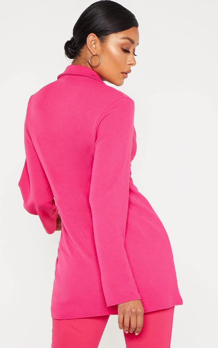 Bright Pink Oversized Boyfriend Blazer 2