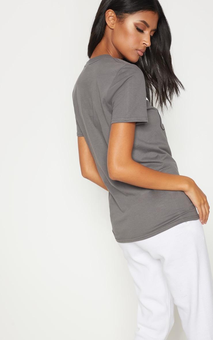 Grey Cali Girl Slogan Oversized T Shirt 2