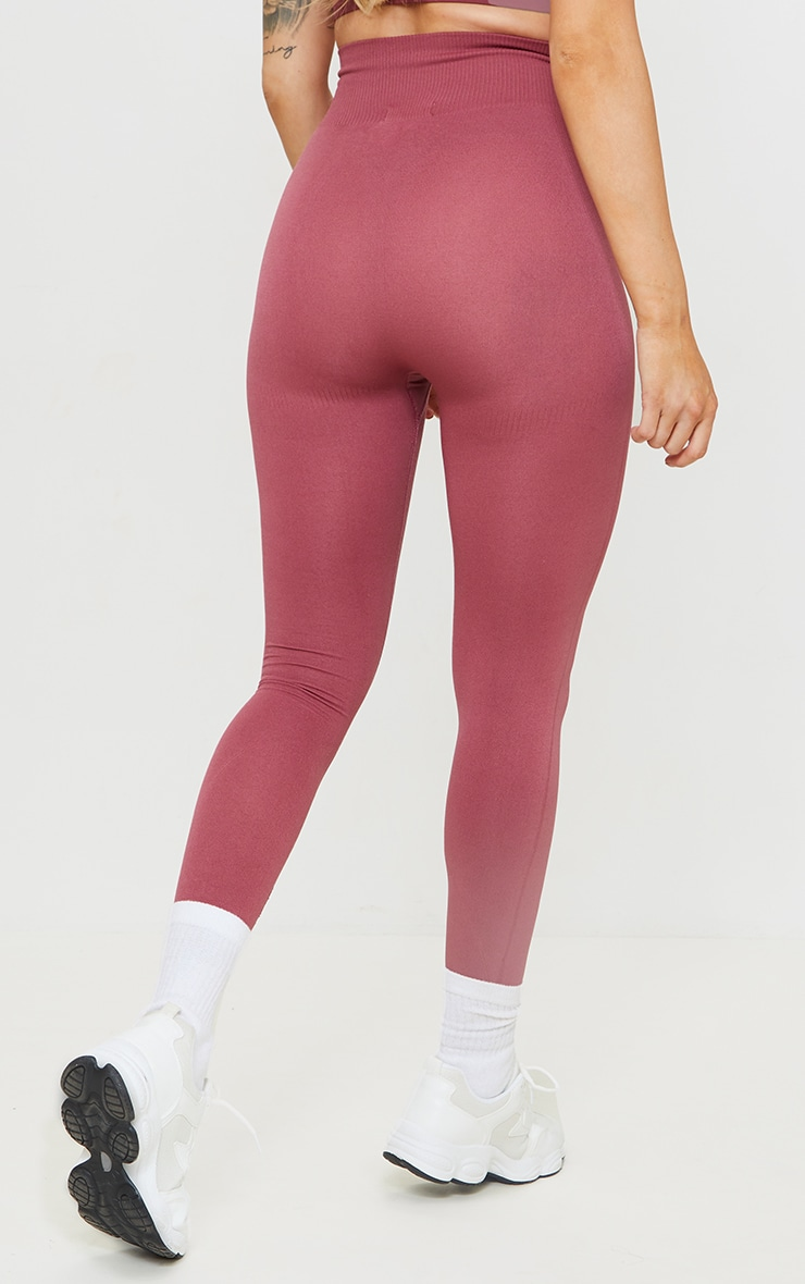 Rose High Waist Seamless Gym Leggings 3