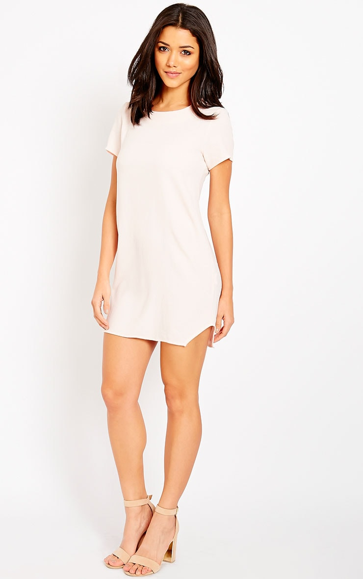 Jeni Baby Pink Crew Neck Shift Dress 3