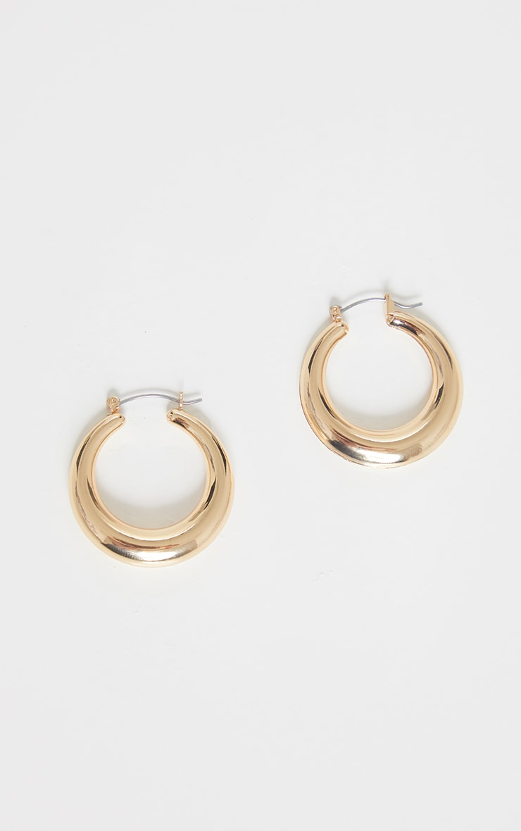 Gold Hoop Circular Earrings 3