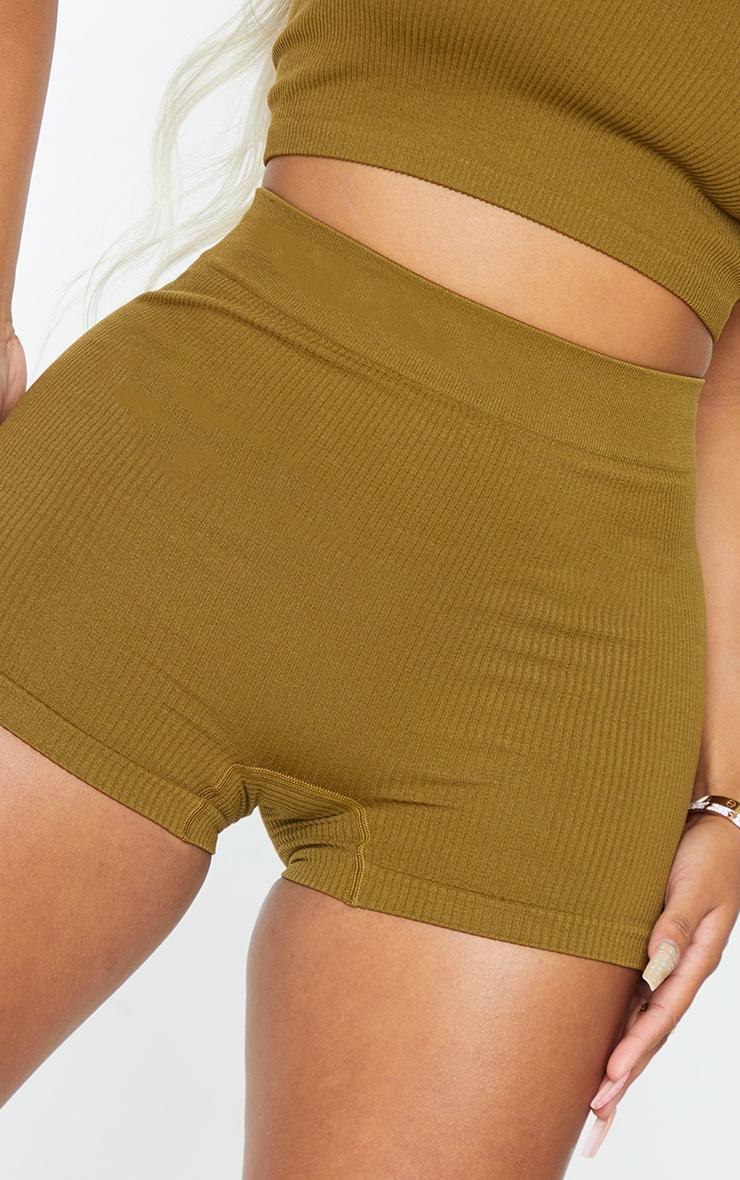Shape Olive Contour Rib Shorts 5