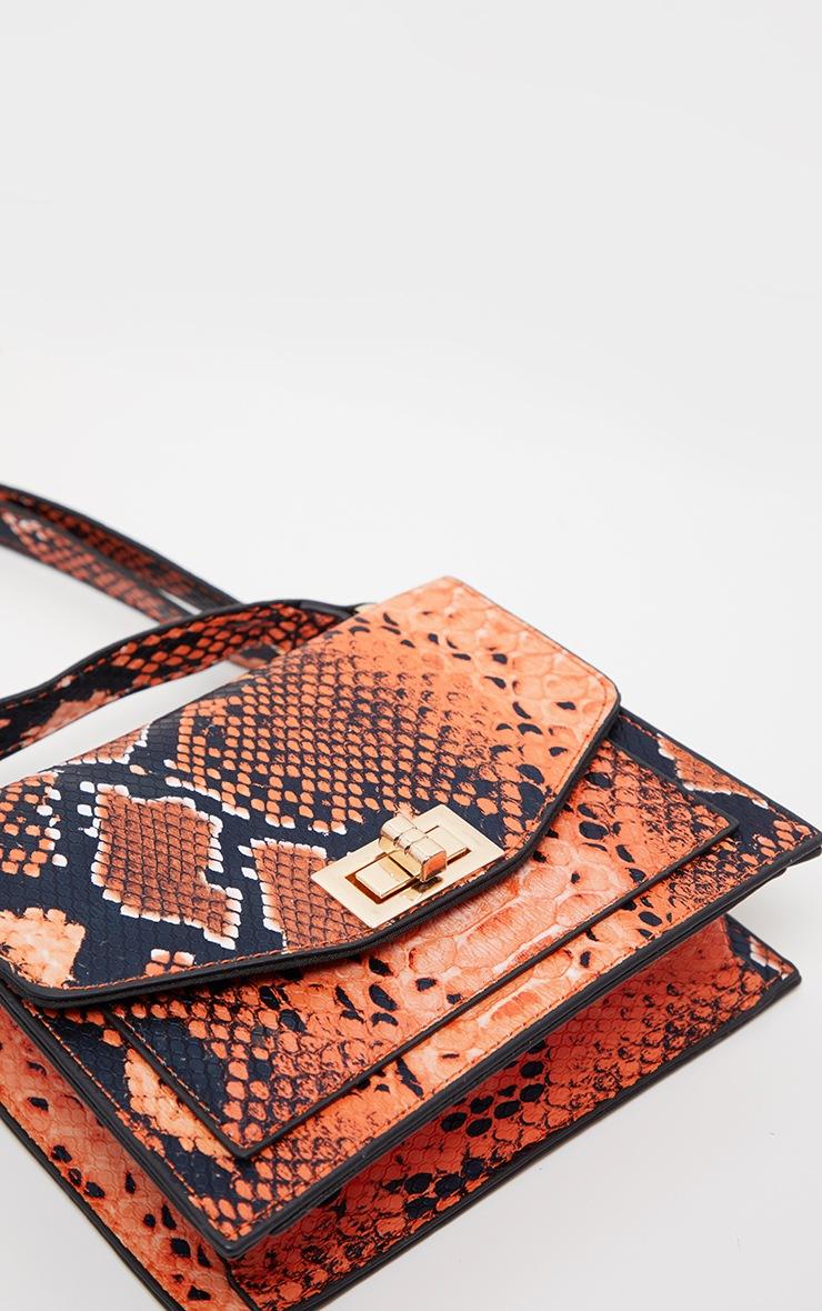 Orange Snake Cross Body Bag 3