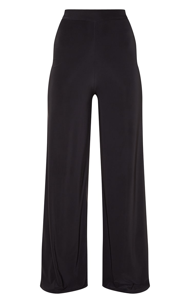 Darsee Black Side Split Slinky Trousers 3