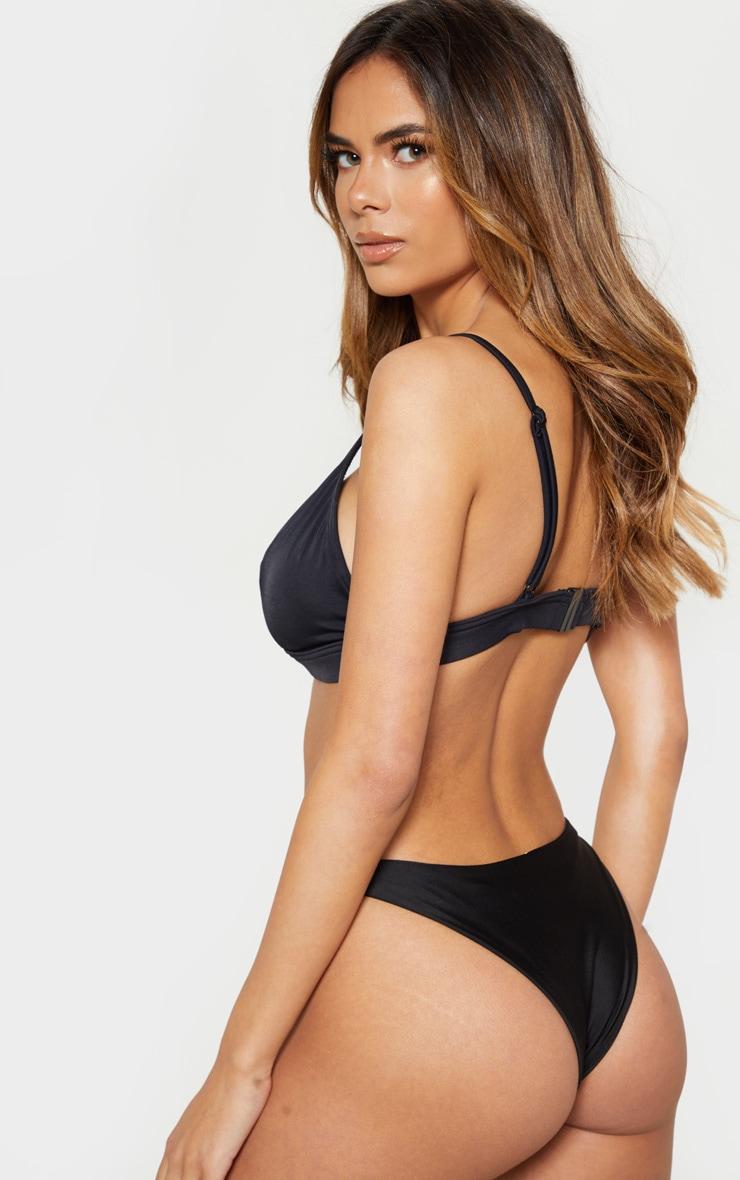 Black Mix And Match Fuller Bust Triangle Bikini Top 2
