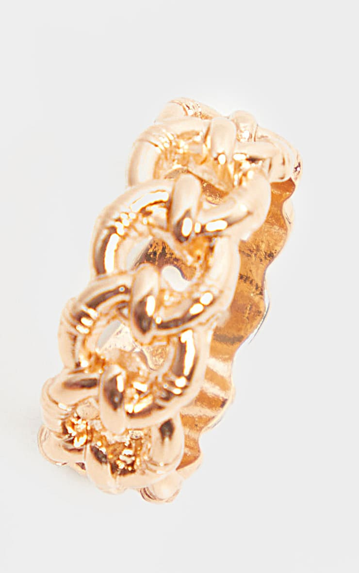 Gold Chain Link Ring 3