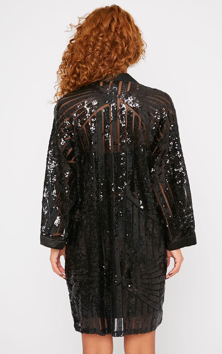 Nadja Black Premium Embellished Kimono  2