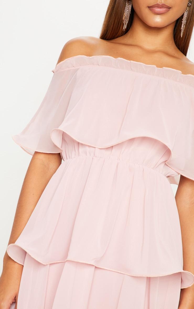 Bardot Chiffon Rose Detail Dress