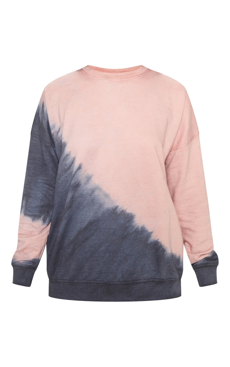 Black Tie Dye Washed Oversized Sweatshirt 3