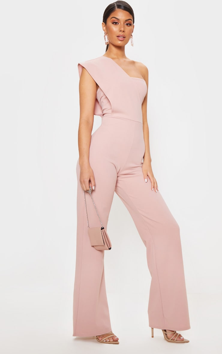 Rose Drape One Shoulder Jumpsuit 4
