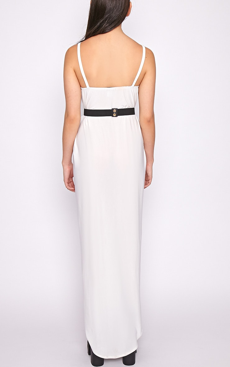 Selma White Extreme Slit Maxi Dress-M/L 2