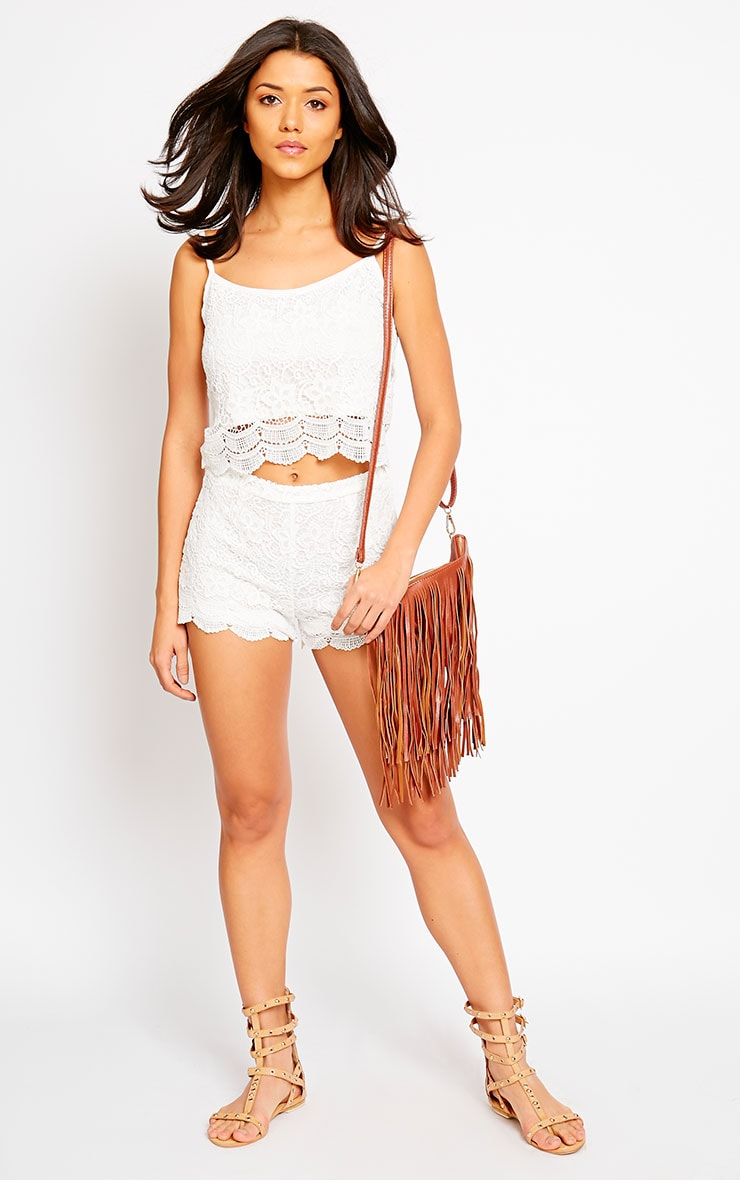 Nella Cream Lace Shorts 5