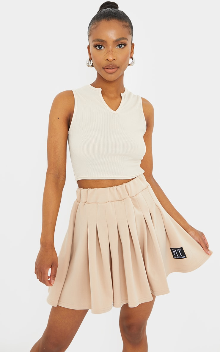 PRETTYLITTLETHING Petite Stone Tennis Skirt 1