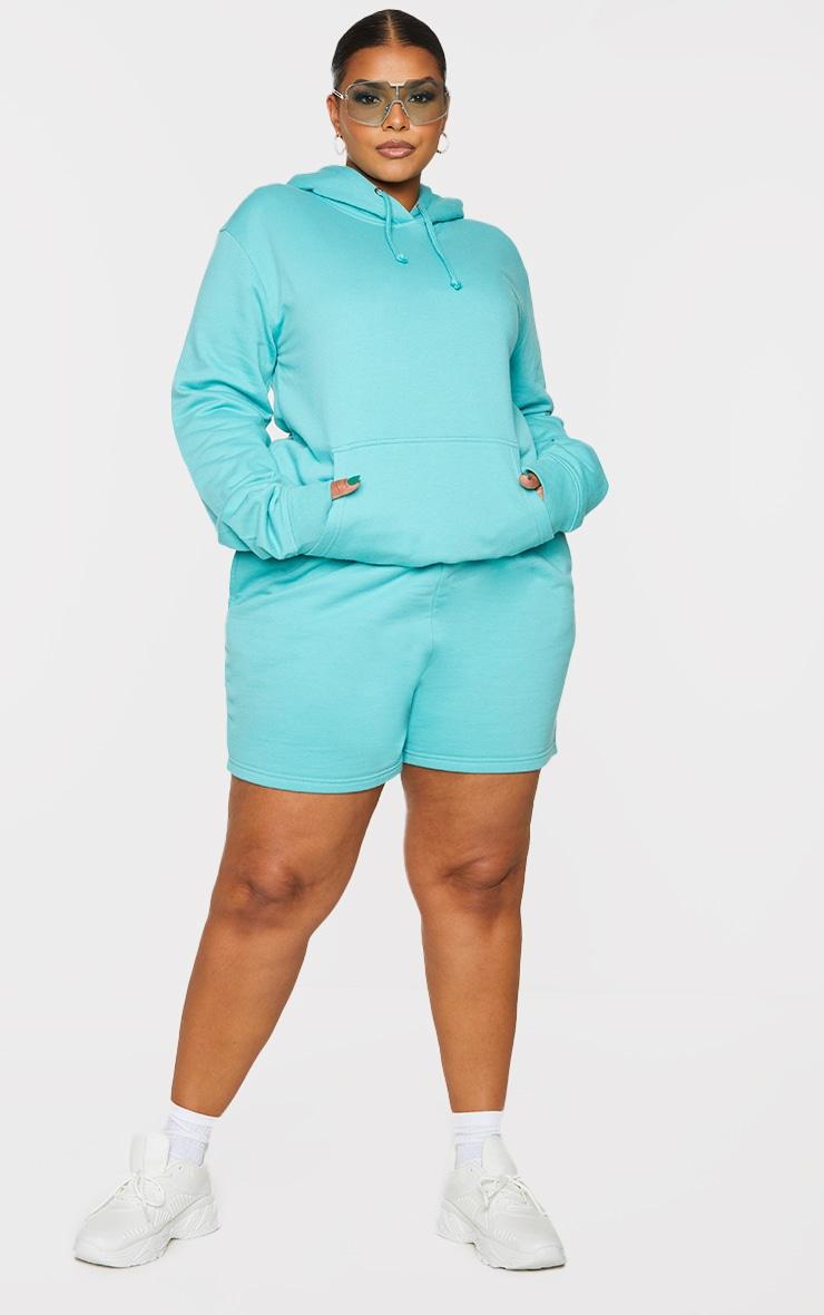 Plus Aqua Sweat Pocket Shorts 1