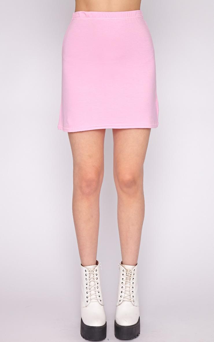 Erika Pink A Line Mini Skirt  3