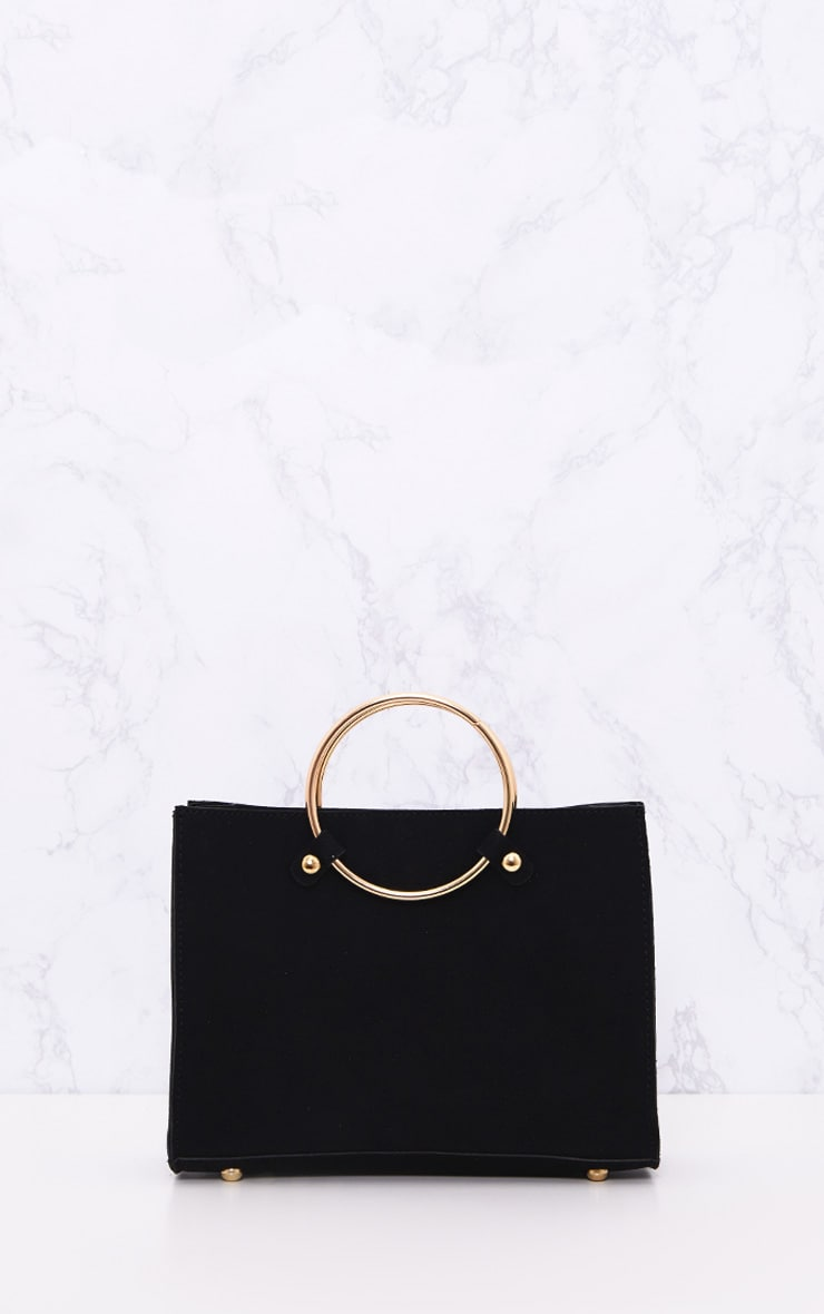 Black Ring Handbag 2