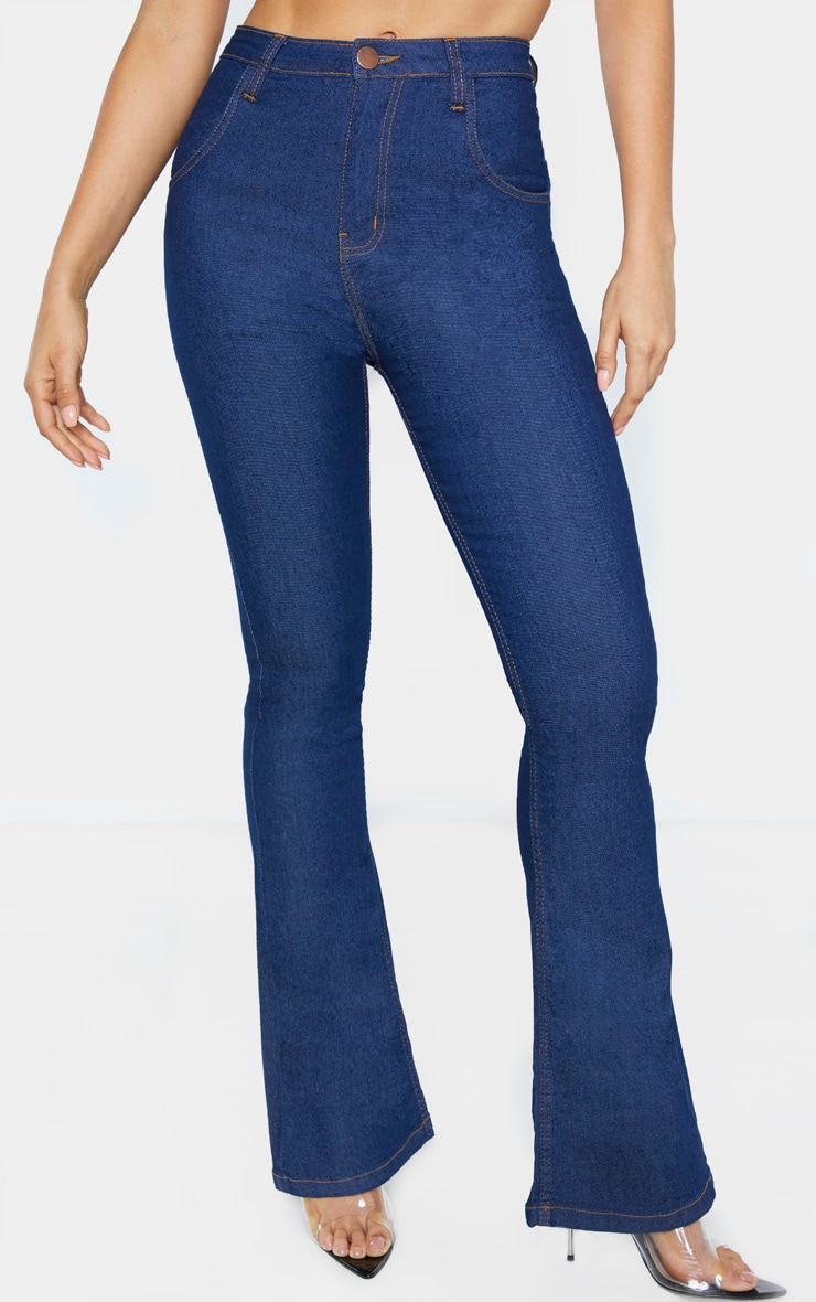 Tall Dark Wash Stretch Denim Flare Jeans 2